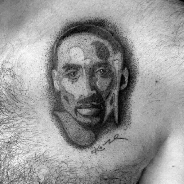 Manly Chest Kobe Bryant Tattoo Design Ideas For Men