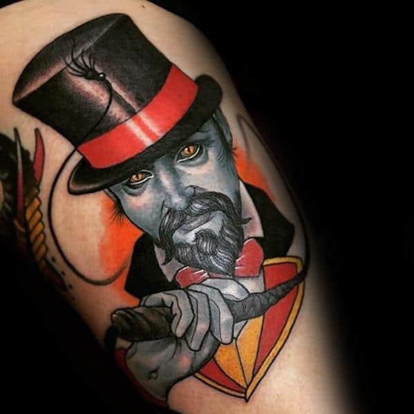 Manly Circus Tattoo Design Ideas For Men On Arm