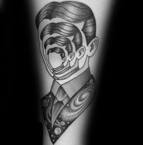 Manly Consciousness Head Inner Forearm Tattoo Design Ideas For Men