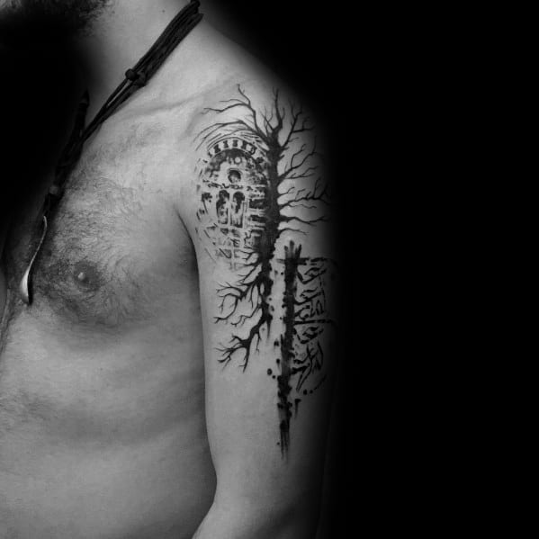 Manly Cool Tree Tattoos For Males