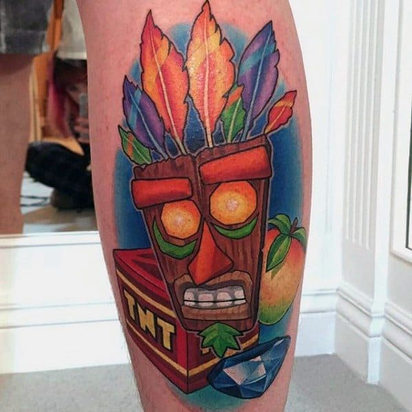 Manly Crash Bandicoot Tattoo Design Ideas For Men