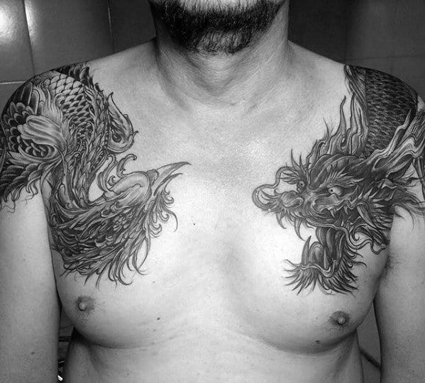 Manly Dragon Guys Shoulder Tattoo