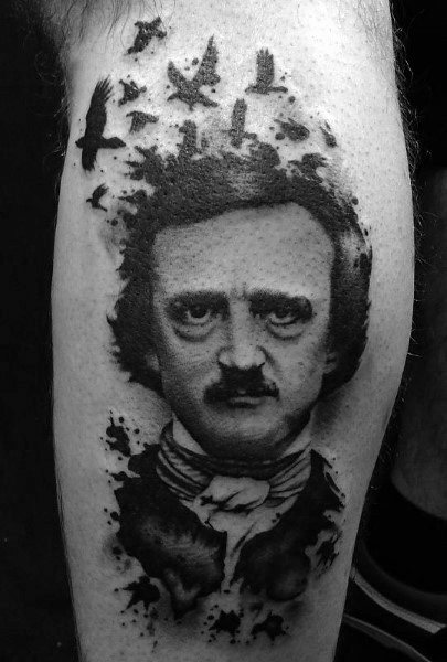 Manly Edgar Allan Poe Tattoos For Males