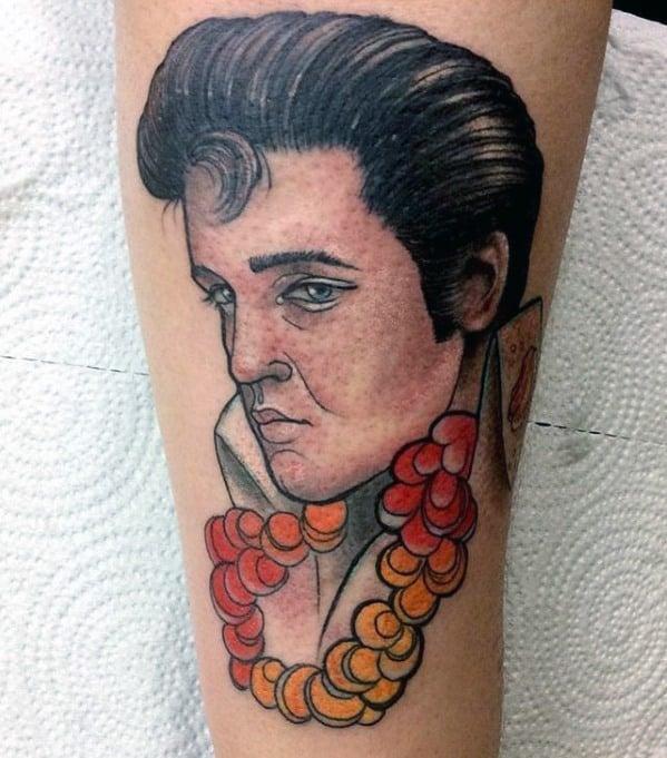 Manly Elvis Presley Tattoo Design Ideas For Men