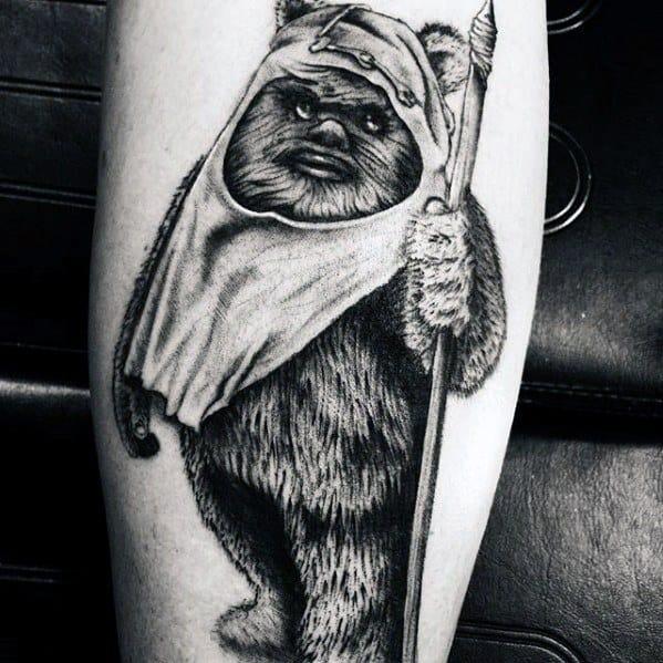 Manly Ewok Tattoo Design Ideas For Men