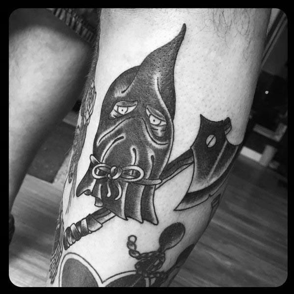 Manly Executioner Tattoos For Males