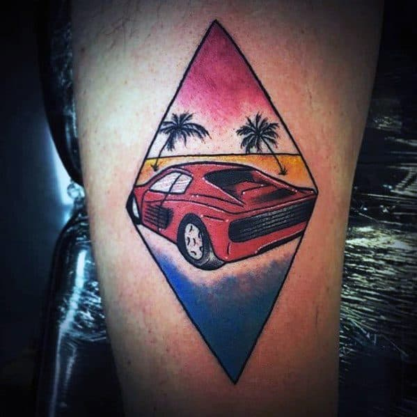 Manly Ferrari Tattoos For Males