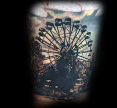 Manly Ferris Wheel Tattoos For Males
