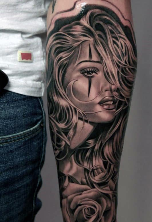 Man'y Forearm Tattoos