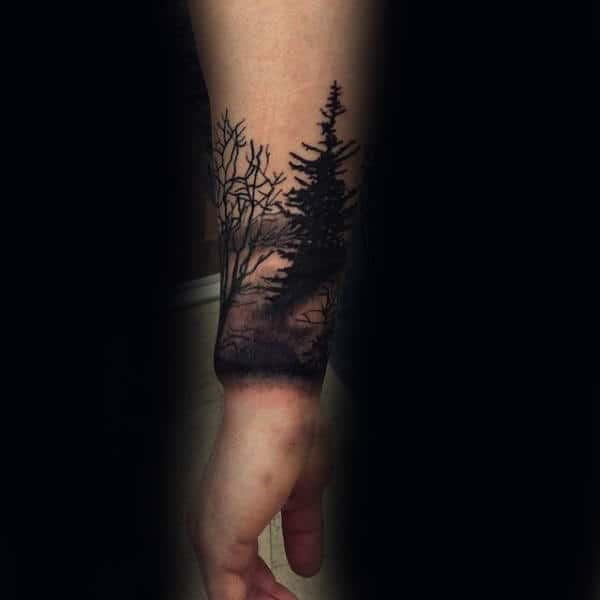 Manly Forearm Tree Tattoos For Guys