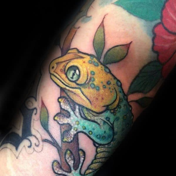 Manly Gecko Tattoo Design Ideas For Men