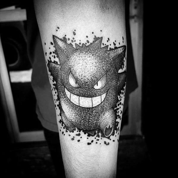 Manly Gengar Tattoo Design Ideas For Men