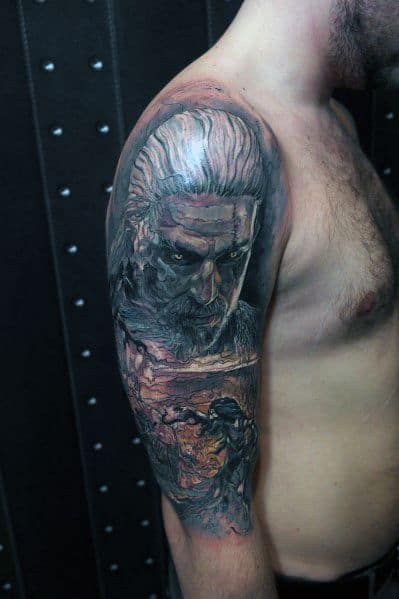 Manly Geralt Tattoos For Males