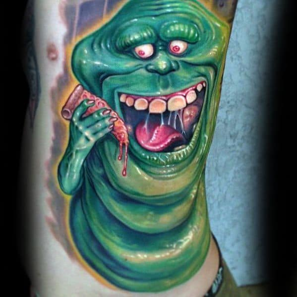 Manly Ghostbusters Tattoo Design Ideas For Men Rib Cage Side