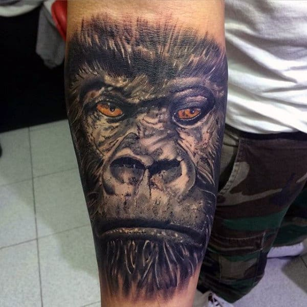 Manly Gorilla Tattoos For Guys