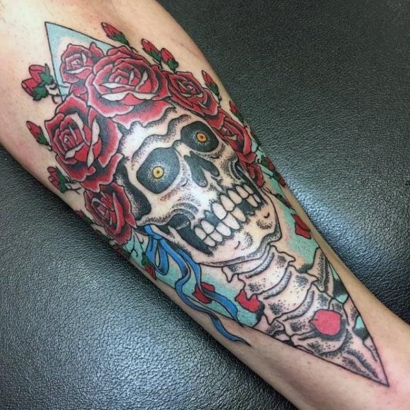 Manly Grateful Dead Tattoo Design Ideas For Men