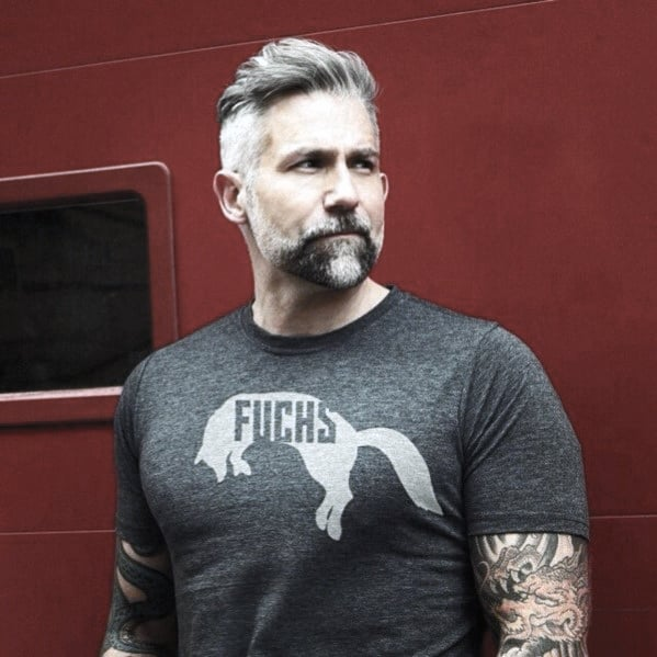 Manly Grey Male Beard Style Ideas