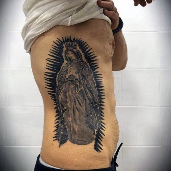 50 guadalupe tattoo designs for men blessed virgin mary ink ideas. Black Bedroom Furniture Sets. Home Design Ideas