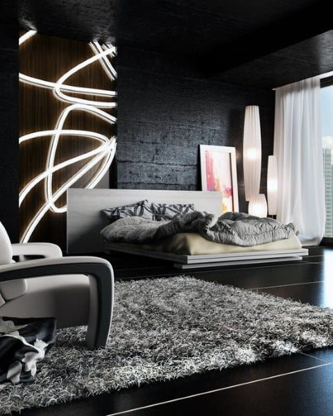 Top 40 Best Black Bedroom Design Ideas Dark Interior Walls Custom Designs For A Bedroom