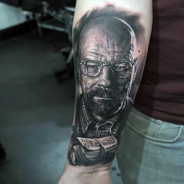 Manly Guys Breaking Bad Wrist And Forearm Tattoo
