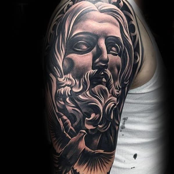 Manly Guys Jesus Arm Tattoos