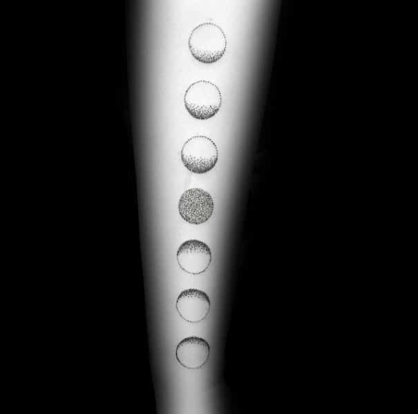 Manly Guys Moon Phases Tattoo Inspiration On Forearm