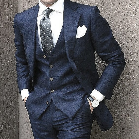 Manly Guys Navy Blue Suit Fashionable Suits