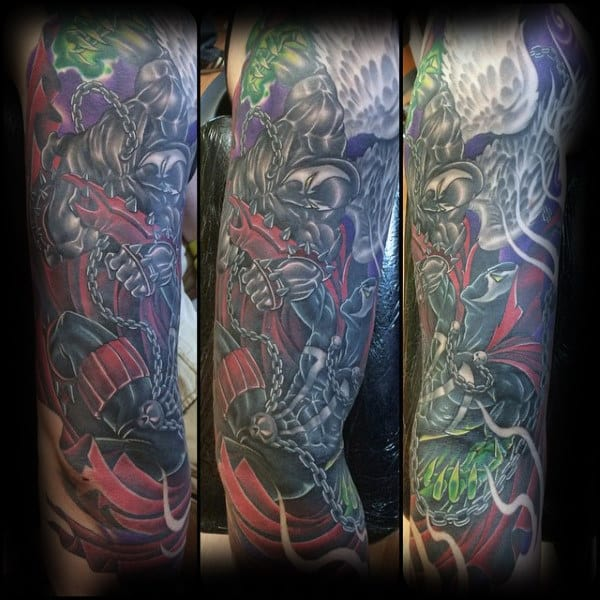 Manly Guys Spawn Sleeve Tattoos