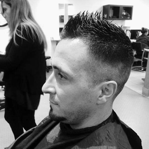 Manly Haircut Faux Hawk Fade Men
