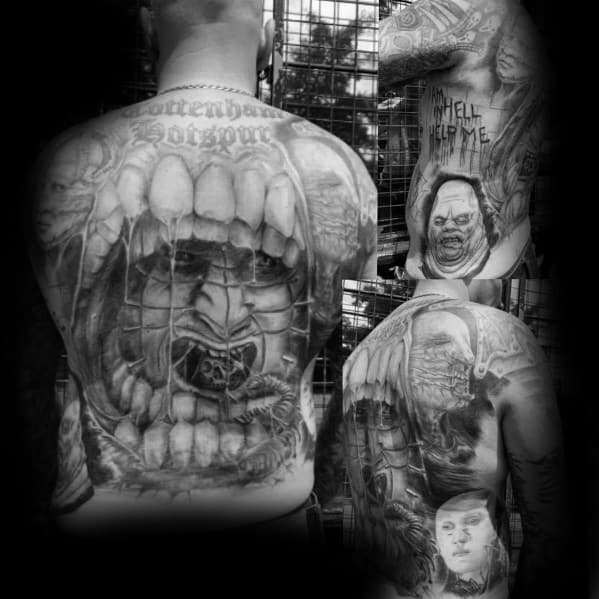 Manly Hellraiser Tattoos For Males
