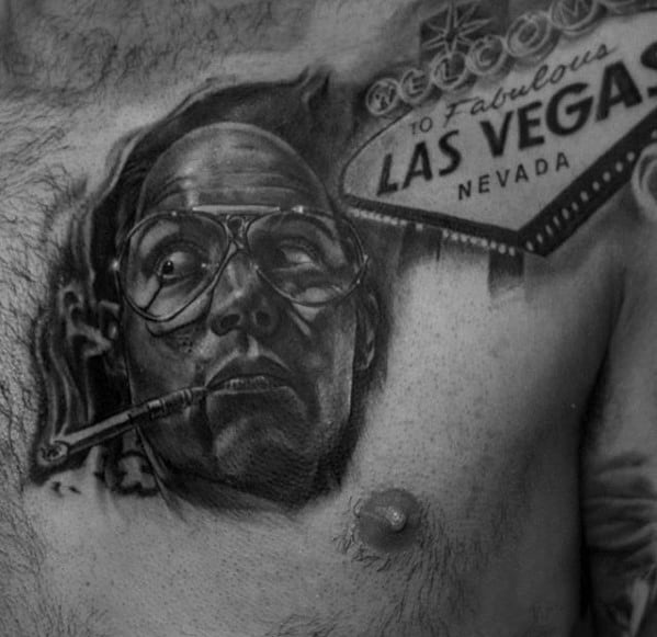 Manly Hunter S Thompson Tattoos For Males On Chest