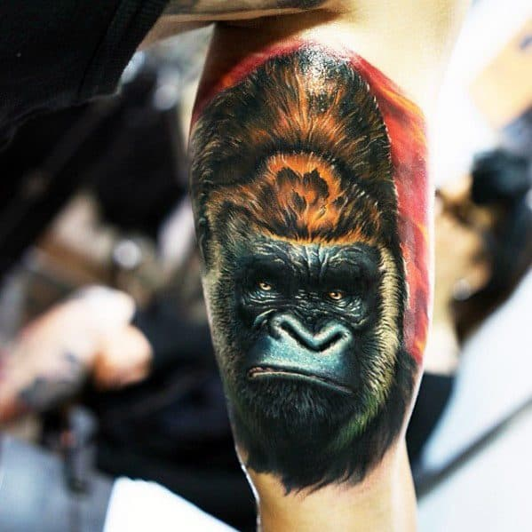 Manly King Kong Tattoo Design Ideas For Men