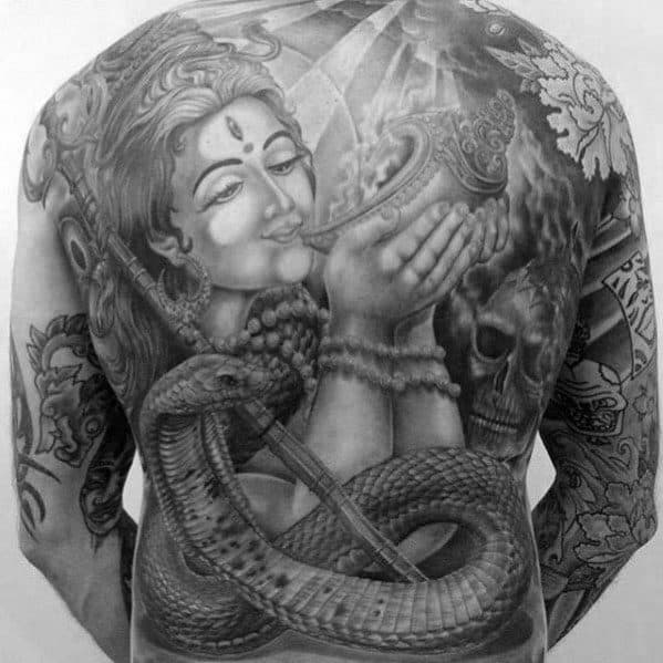 40 krishna tattoo designs for men hinduism ink ideas for Har har mahadev tattoo