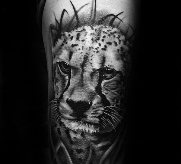 Manly Leopard Mens Arm Tattoos