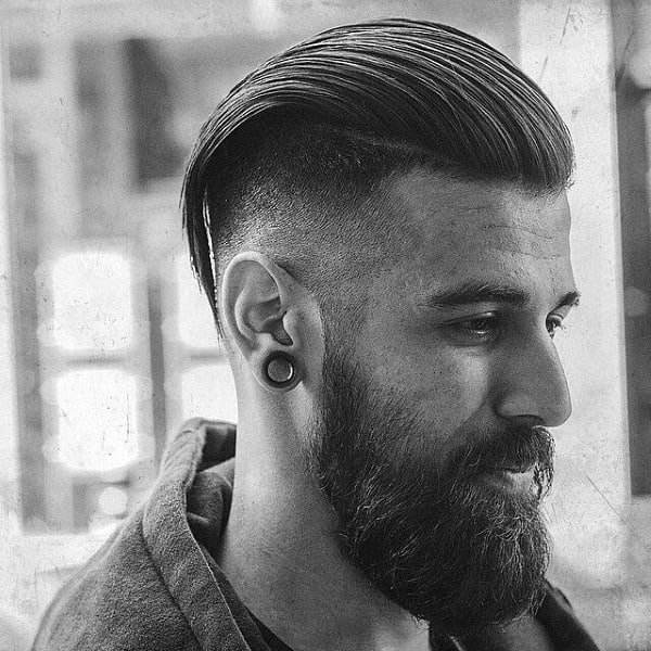 Manly Male Slick Back Short Hair