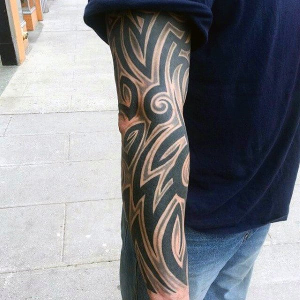 Manly Male Tribal Tattoos Sleeves