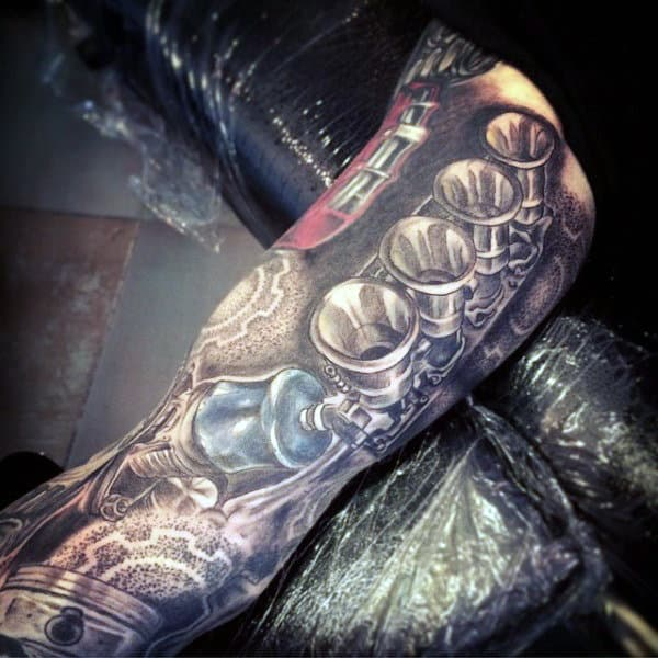 Manly Mechanical Sleeve Tattoo