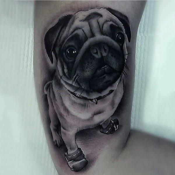 Manly Mens Bicep Dog Tattoos