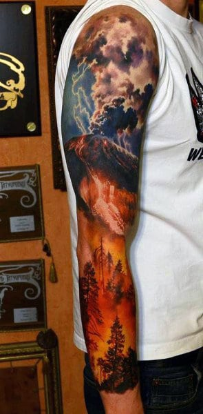80 Cloud Tattoos For Men - Divine Dwelling Designs