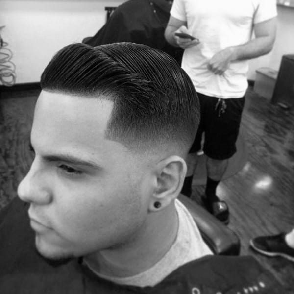 Manly Mens Comb Over Fade Haircut