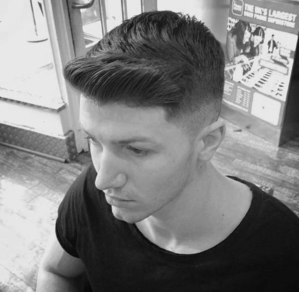 Manly Mens Short Fade Hairstyles Ivy League