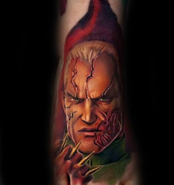 Manly Metal Gear Tattoo Design Ideas For Men On Foot