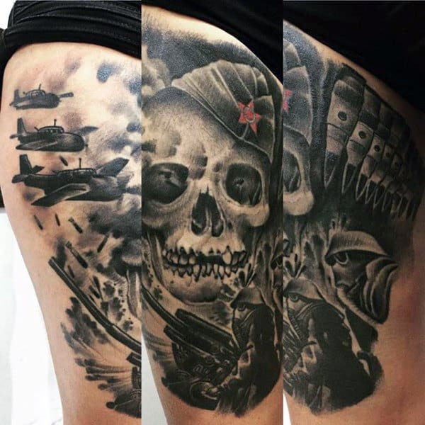 Manly Military Eagle Tattoo Designs