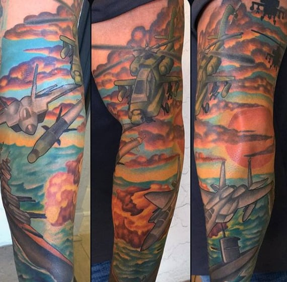 Manly Military Tattoo Design