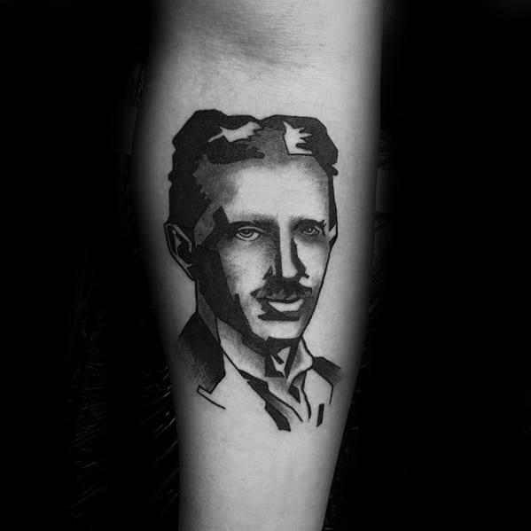 Manly Nikola Tesla Tattoo Design Ideas For Men