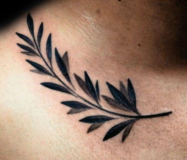 70 olive branch tattoo designs for men ornamental ink ideas. Black Bedroom Furniture Sets. Home Design Ideas