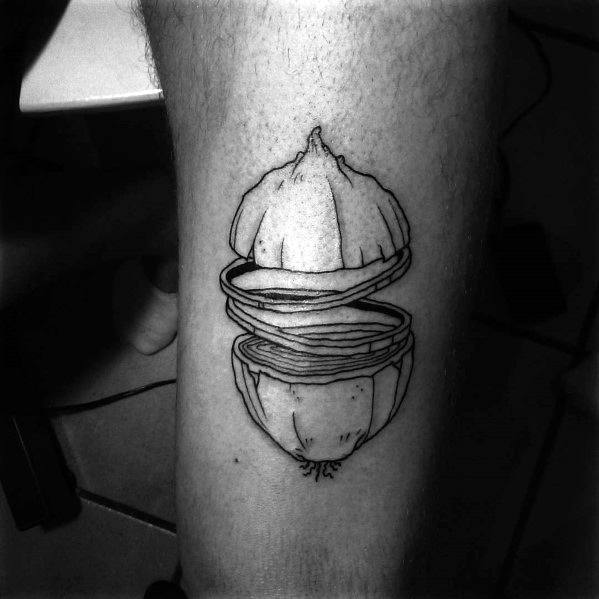 Manly Onion Tattoos For Males