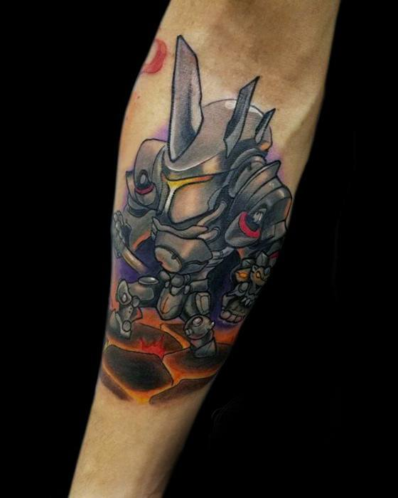 Manly Overwatch Tattoo Design Ideas For Men