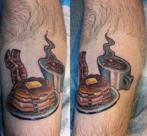 Manly Pancake Tattoos For Males
