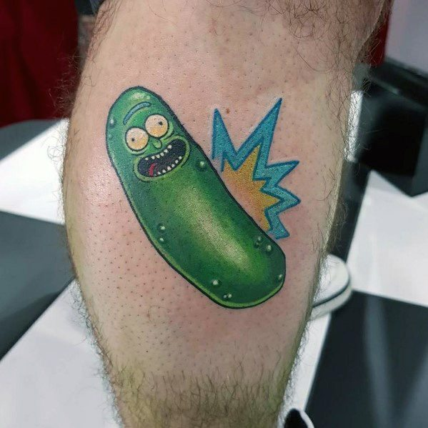 Manly Pickle Rick Tattoos For Males
